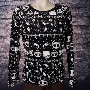 Nightmare Before Christmas Sleepwear Top, Large